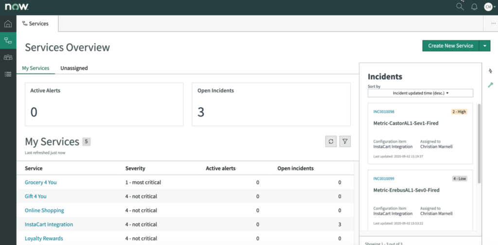 Site Reliability Operations ServiceNow